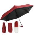Fünf faltbarer Mini-Kapselschirm, super winziges UV 5-fach Mini-Regenschirm-Kapselgeschenk