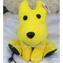 Best gift cute plush toy dog usb speaker