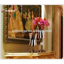 Großhandelsgroßes dekoratives antikes Fußboden-Blumen-Glasvasen-Blumen-dekoratives Hauptdekor