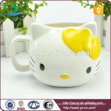Оптовая желтая Hello Kitty Творческая чашка из керамики