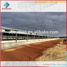 Showhoo aménagement de ferme de volaille pour la structure en acier Maisons à poulet