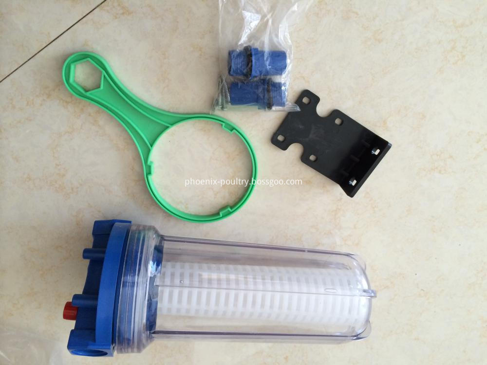 Automatic Small Bore Water Filter For Poultry Drinking System