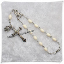 New Design Glass Decade Rosary Bracelet with Cross Pendant (IO-CE068)