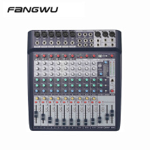 High Quality 12 CH Channel DSP Effect Audio Mixer With DAC Sound Card