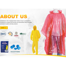 Colorful LDPE Adult Rain Ponchos