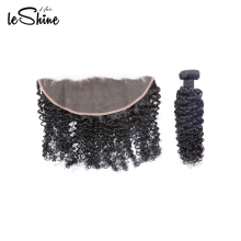 Long lasting Virgin Wholesale Hair Vendor Peruvian Human Curl Wave 360 Lace Frontal Closure