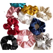 silk hair fabric scrunchie hair accessories solid color rubber band satin hair scrunchies