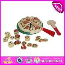 2014 nouveau jouet en bois jouet pour les enfants, jouet de rôle jouer jouet de simulation pour les enfants, jouet chaud pizza vente ensemble jouet de simulation pour le bébé W10b064