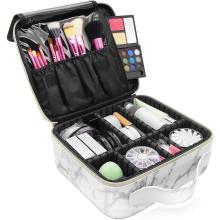 Waterproof PU Marble Travel Makeup Bag Private Label White Cosmetic Bag