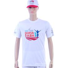 100% poliéster água impressas camisas de futebol de esportes