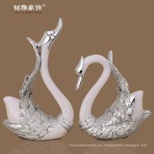 regalo de boda al por mayor resina cisne estatuilla para la decoración del hogar