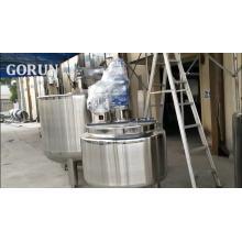 China Fabrik Direktverkauf Schnelle Lieferung Doppel Öffnen Abdeckung Mixing Tank Paddel + Scraper Mixer Mixing Tank