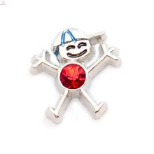 Birthstone slide charms, cartoon character charms