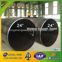 API de diâmetro grande 5L X70 PSL2 Tubo de aço LSAW