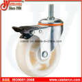 4 Inch Medium Duty Swivel White PP Caster with Double Brake