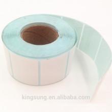 rollo de papel de etiqueta blanco en blanco personalizado por mayor