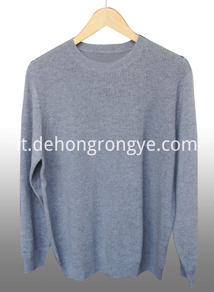 Round Neck Cashmere Men S Sweater