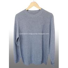 Round neck cashmere men's sweater