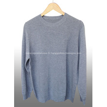 Pull homme col rond en cachemire