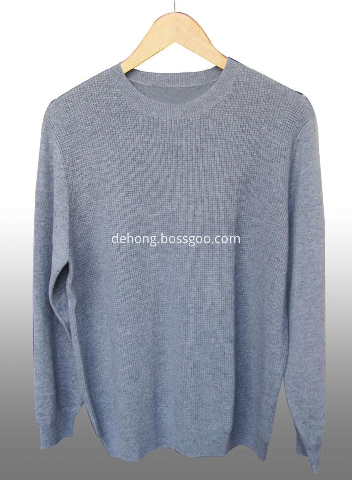 Round Neck Cashmere Men S Sweater