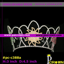 Small round summer child pageant tiaras crowns