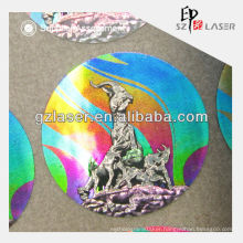 Custom hologram private woven clothing label