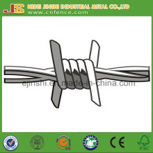1.57mm Zinc recouvert 230g / Square Meter High Tensile Double Twist Barbed Wire