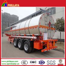 Petroleiro de alumínio do combustível de óleo da liga 30-60cbm do Mg de 3 eixos semi