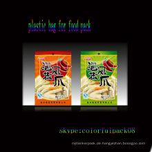 Snack-Food-Vakuumbeutel / Kunststoff-Vakuumbeutel für Lebensmittelverpackungen / bedruckte Snack-Packagig-Beutel mit Sichtfenster