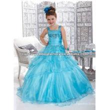 2013 nouveau ciel perlé bleu étagé sur mesure robe de bal robe de junior filles CWFaf4696