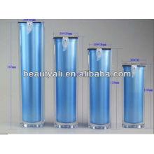Botella de bomba sin aire y botellas de plástico acrílico