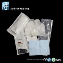 Equipo de cateterismo uretral desechable