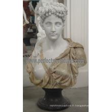 Sculpture en pierre de marbre en pierre de buste pour statuette de figurine (SY-S310)