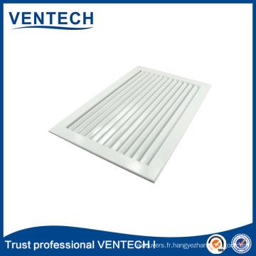Grilles de retour de lames fixes en aluminium de ventilation de systèmes de CVC