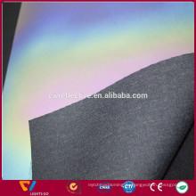 Высокая видимость 0.8 мм переливающийся светоотражающий PU синтетическая кожа для обуви