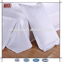 100% algodón 60s 300TC plain almohada Funda de almohada blanca barata para el hotel utilizado