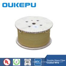 Vidro de balsa de alta qualidade OUKEPU cobrir o fio de cobre retangular, balsa vidro coverd arame, fio de alumínio de vidro coberto de balsa