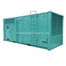 Генератора 800kw 1000ква МТУ контейнерных дизель-генератор Soundprof