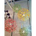 Indoor Decorative Ball Wooden Pendant Lamps