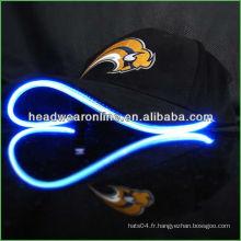 2013 chapeaux LED chapeaux LED chapeau lumineux à LED avec broderie