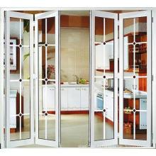Стеклянные раздвижные двери межкомнатные перегородки рамы складные двери