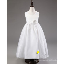 baby girls long wedding dress/kids girls long party dress