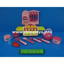 Plastic Combination Set, Tea Set Toy, Cooking Set Toy (259809)