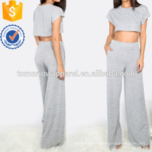 Топ с карманами широкие брюки Производство Оптовая продажа женской одежды (TA4022SS)