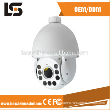 White dome surveillance camera housing of IP66 waterproof rate die casting parts