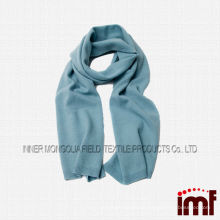 Luxurious Pure Cashmere Knitting Crumple Shawl Scarf in Solid Color Aqua