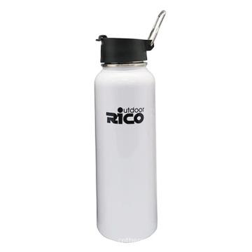 Outdoor Activity Stainless Steel Vacuum Bottle Flip Cap Glossy White, Matte Black, Sliver 1200ml, 500ml