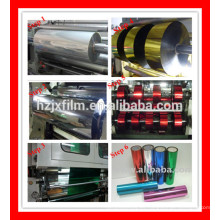 Película metálica metalizado película metálica película rollo guirnalda, brillo, polvo de brillo, lentejuelas material reflectante