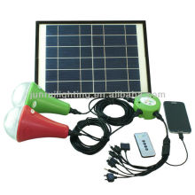 9W solar powered luz interior con panel solar monocristalino