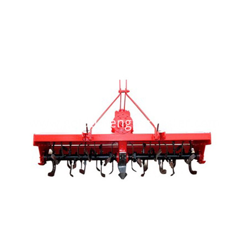 Low gearbox series rotary tiller adopt low gearbox body, Eight module gear transmission, the height of gearbox